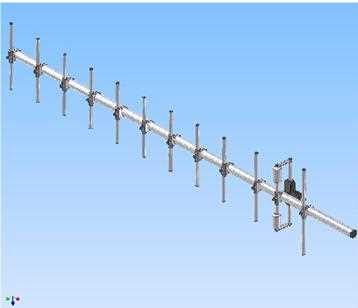 Screwable Yagi Antenna with 1 Cable Tetra/